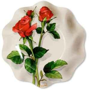 Piatti Fondi di Carta a Petalo Rose Rosse 18,5 cm Extra