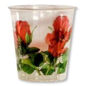 Bicchieri di Plastica 300 cc Rose Rosse 3 confezioni Extra