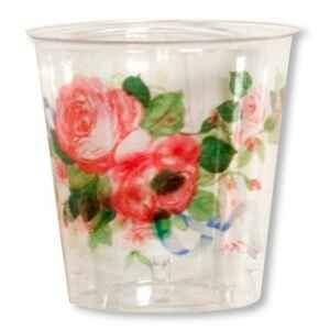 Bicchieri di Plastica Cachepot di Eleganza 300 cc 3 confezioni Extra