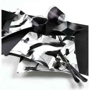 Piatti Piani di Carta Quadrati Grandi Contemporary  Wasabi 24,5 x 24,5 cm Extra
