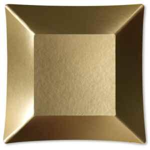 Piatti Piani di Carta Quadrati Piccoli Oro Satinato Wasabi 19 x 19 cm Extra