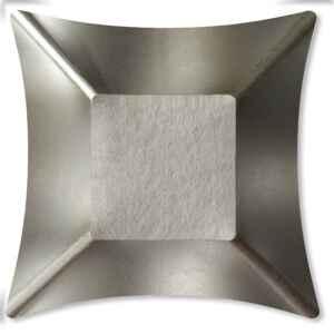 Piatti Piani di Carta Quadrati Piccoli Argento Satinato Wasabi 19,8 x 19.8 cm Extra