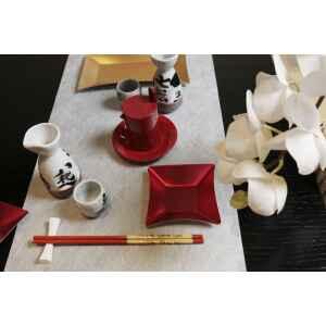 Piatti Piani di Carta Quadrati Piccoli Rosso Satinato Wasabi 19,8 x 19,8 cm Extra