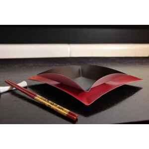 Piatti di Carta Quadrati Grandi Wasabi Nero Opaco 19,8 x 19,8 cm Extra