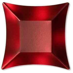Coppetta Quadrata Piccola di Carta Rosso Satinato Wasabi 11,6 x 11,6 cm Extra