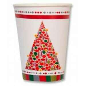 Bicchieri di Carta Happy Christmas 250 cc Extra