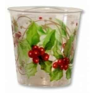 Bicchieri di Plastica Christmas Style 300 cc 3 confezioni Extra