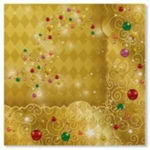 Tovaglioli XMAS LIGHT GOLD 33 x 33 cm 3 confezioni Extra