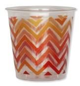 Bicchieri di Plastica Chevron Rosso 300 cc 3 confezioni Extra