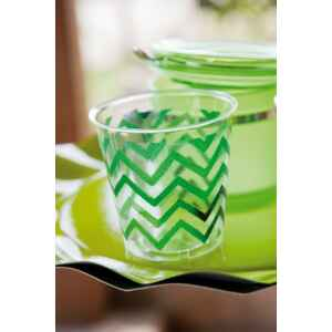 Bicchieri di Plastica Chevron Verde 300 cc 3 confezioni Extra