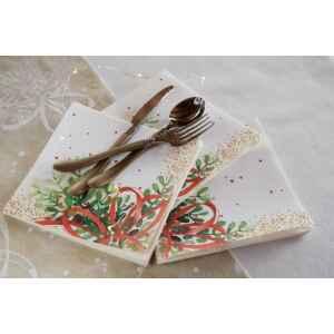 Tovaglioli Christmas Bouquet 33 x 33 cm 3 confezioni Extra