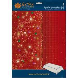 Tovaglia Rettangolare Natale in Rosso 140 x 240 cm Extra