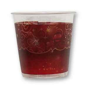 Bicchieri di Plastica Natale in Rosso 300 cc 3 confezioni Extra