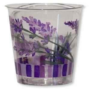 Bicchieri di Plastica Fiori Lavanda 300 cc 3 confezioni Extra