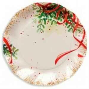 Piatti Piani di Carta a Petalo Christmas Bouquet 21 cm Extra
