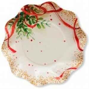 Piatti Fondi di Carta a Petalo Christmas Bouquet 24 cm Extra