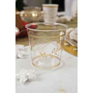 Bicchieri di Plastica Golden Christmas 300 cc 3 confezioni Extra