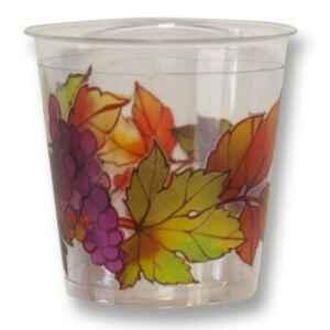 Bicchieri di Plastica Autunno Grapes 300 cc 3 confezioni Extra