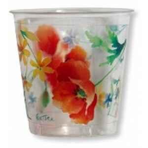 Bicchieri di Plastica Papaveri Poppy 300 cc 3 Confezioni Extra