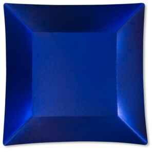 Piatti Piani di Carta Quadrati Grandi Blu Satinato Wasabi 24,5 x 24,5 cm Extra
