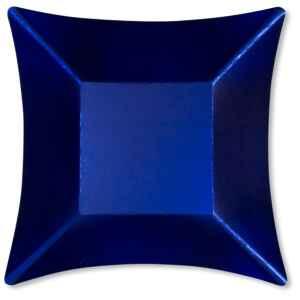 Piatti Piani di Carta Quadrati Piccoli Blu Satinato Wasabi 19,8 x 19.8 cm Extra