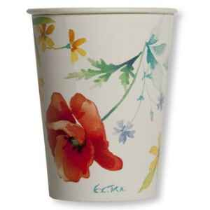 Bicchieri di Carta Papaveri Poppy 250 cc 3 Confezioni Extra