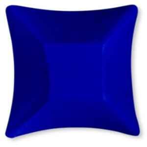Coppetta Quadrata Piccola di Carta Blu Satinato Wasabi 11,6 x 11,6 cm Extra