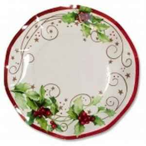 Piatti Piani di Carta a Petalo Christmas Style 24 cm Extra