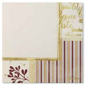 Tovaglioli Rose Gold Christmas 33 x 33 cm 3 confezioni Extra
