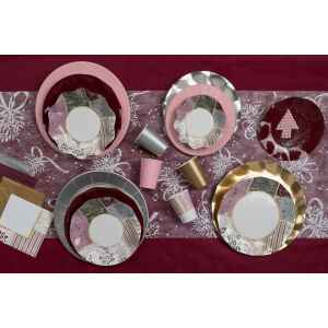 Piatti Piani di Carta a Petalo Rose Gold Christmas 27 cm Extra