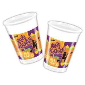 Bicchieri di Plastica 180 - 200 cc Happy Halloween Extra