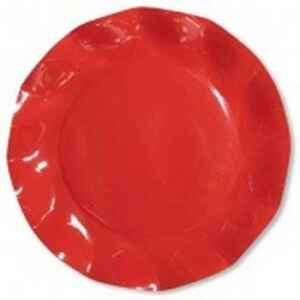 Piatti Piani di Carta a Petalo Rosso Corallo 24 cm Extra