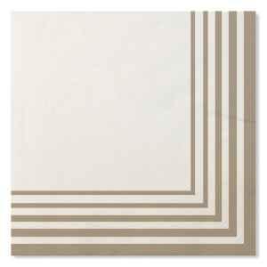 Tovaglioli Compostabili Bianco Tortora 33 x 33 cm 3 confezioni Extra