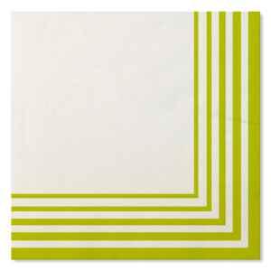 Tovaglioli Compostabili Bianco Verde Lime 33 x 33 cm 3 confezioni Extra