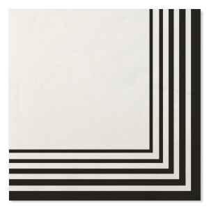 Tovaglioli Compostabili Bianco Nero 33 x 33 cm 3 confezioni Extra
