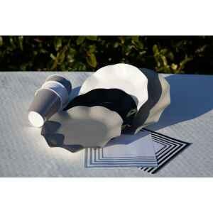 Tovaglioli Compostabili Bianco Grigio 33 x 33 cm 3 confezioni Extra