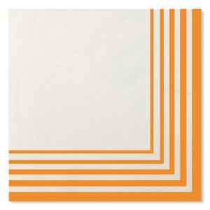 Tovaglioli Compostabili Bianco Arancione 33 x 33 cm 3 confezioni Extra