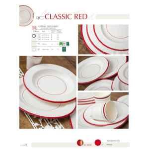 Tovaglioli a Righe Bordo Rosso Classic Red 33 x 33 cm 3 confezioni Extra