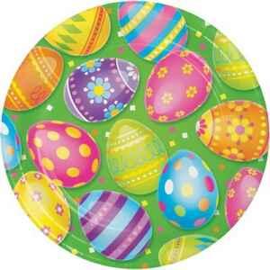 Piatto carta 23 cm Colorful Easter Eggs 8 pz