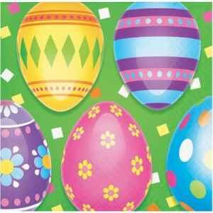 Tovagliolo Colorful Easter Eggs 25 x 25 cm 3 confezioni