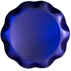 Vassoio Tondo 30 cm Blu Satinato 1 Pz Extra
