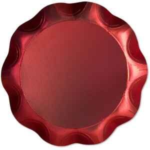 Vassoio Tondo 30 cm Rosso Satinato 1 Pz Extra