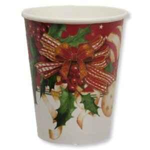 Bicchieri Compostabili Christmas Decoration 250 cc Extra
