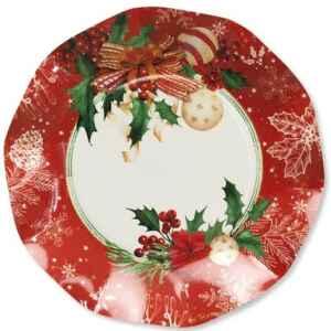 Piatti Piani di Carta Compostabili Christmas Decoration 21 cm Extra
