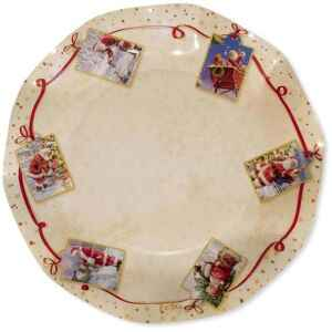 Piatti Piani di Carta a Petalo Natale Greetings 24 cm Extra