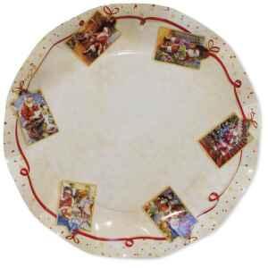 Piatti Piani di Carta a Petalo Natale Greetings 27 cm Extra