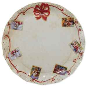 Piatti Piani di Carta a Petalo Natale Greetings 32,4 cm Extra