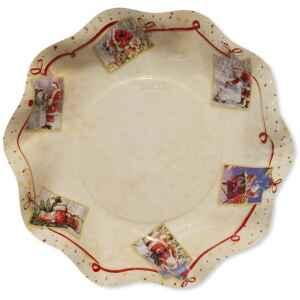 Piatti Fondi di Carta a Petalo Natale Greetings 24 cm 2 confezioni Extra