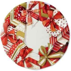 Extra Piatti Piani di Carta a Petalo Natale Christmas Gift 27 cm