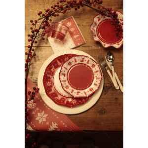 Extra Piatti Piani di Carta a Petalo Natale Punto Croce 21 cm